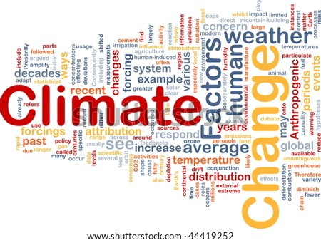 Background concept wordcloud illustration of global climate change - stock photo