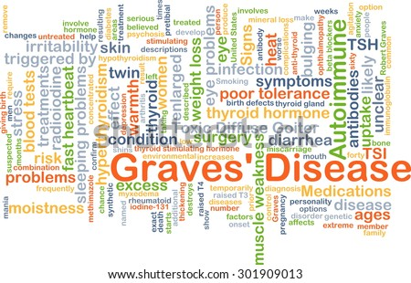 Background concept wordcloud illustration of Graves�¢?? disease