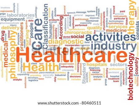 Background concept wordcloud illustration of healthcare