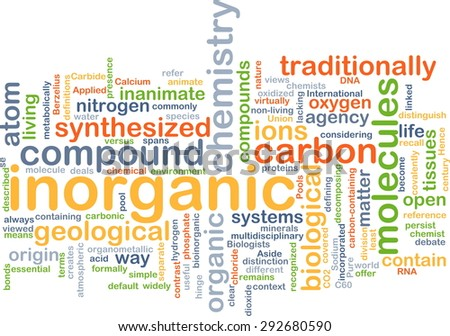 Background concept wordcloud illustration of inorganic