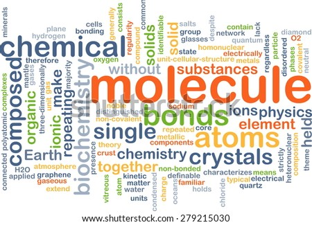 Background concept wordcloud illustration of molecule