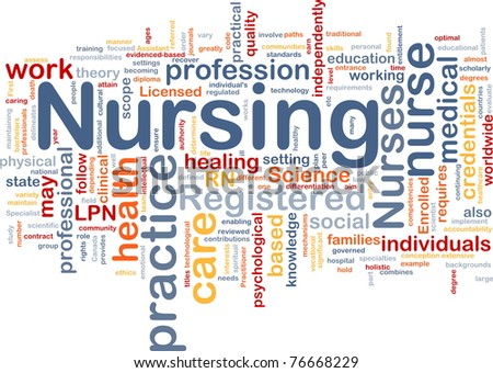 Background Concept Wordcloud Illustration Nursing Stock ...