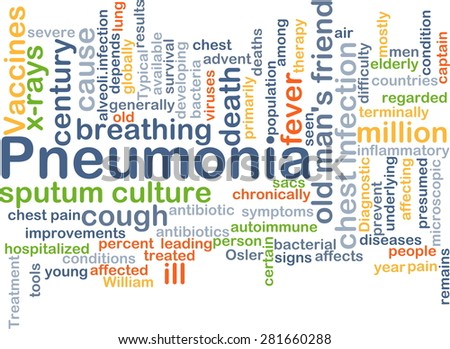 Background concept wordcloud illustration of pneumonia