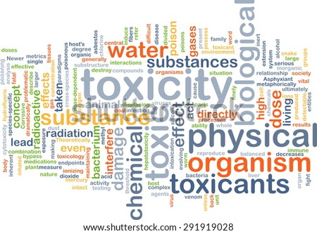 Background concept wordcloud illustration of toxicity - stock photo
