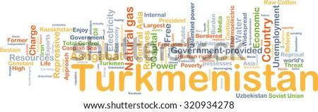 Background concept wordcloud illustration of Turkmenistan