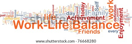 Background concept wordcloud illustration of work-life balance