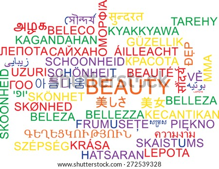 Background Concept Wordcloud Multilanguage International Many Language Illustration Of Beauty