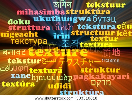 Background concept wordcloud multilanguage international many language illustration of texture glowing light
