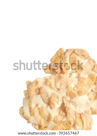 Background cookies on white texture