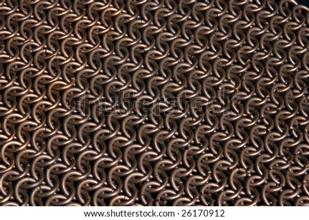 Background: copper chainmail