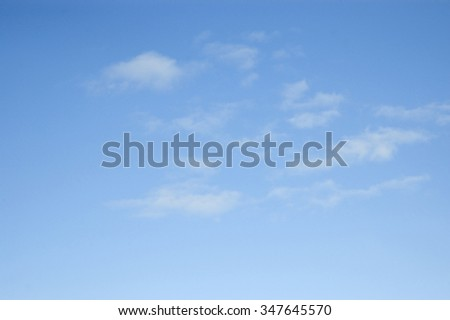 Background. Cumulus clouds in the dark blue sky