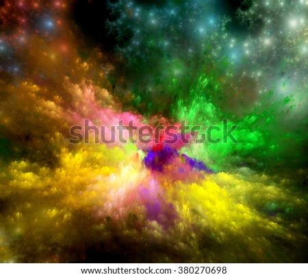 Background design of dreamy forms and colors on the subject of dream,