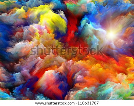 Background design of dreamy forms and colors on the subject of dream, imagination, fantasy and abstract art Realms of Dream