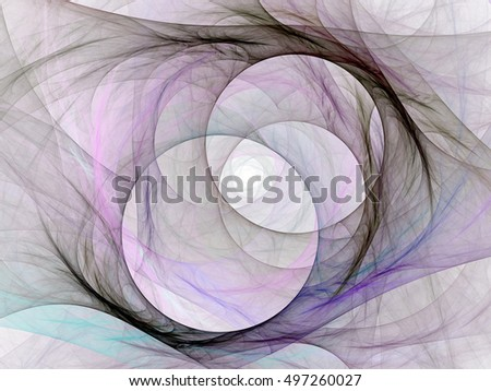 Background design of fractal on the subject of science, technology and design. An abstract computer generated fractal design.