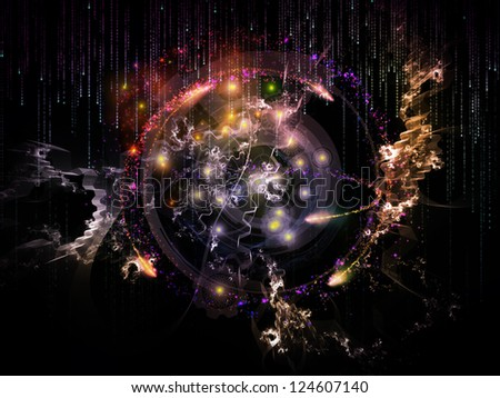 Background design of various technology related elements on the subject of industry, science and education - stock photo
