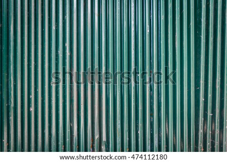 Background Detail of texture metal Corrugated Iron Panelling