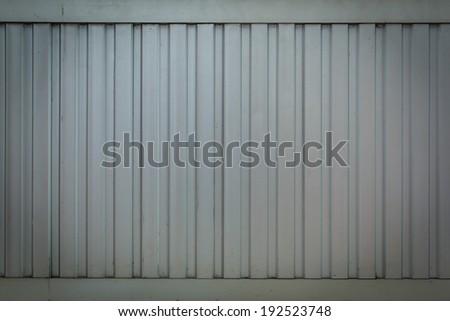 Background Detail of texture of aluminium wall - stock photo