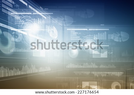 Background digital image with touch icons. Innovative technologies - stock photo