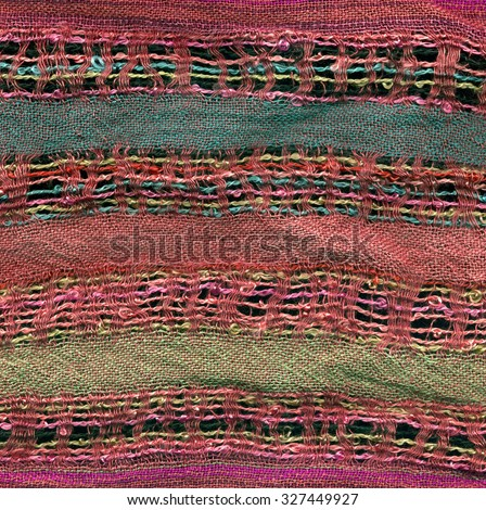 background - fabric texture with stripes - red