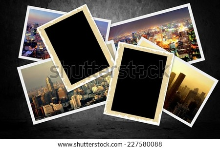 background filled images from the city of Bangkok ( thailand ) and room for copyspace - stock photo