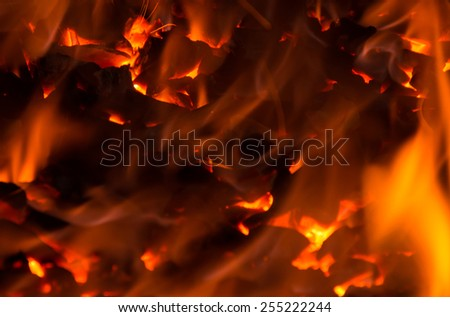 Background flame furnace - stock photo