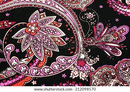 background floral batik - stock photo