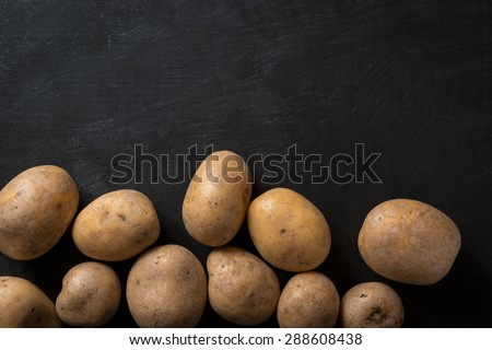 Background Food Potatoes - stock photo