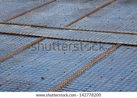 Background for placing concrete,construction site. - stock photo
