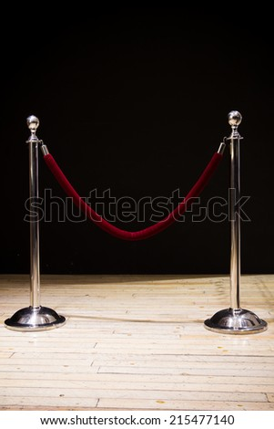 Background for the barricades for special guests. - stock photo