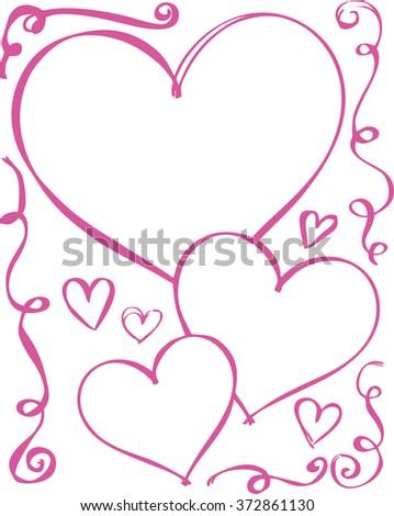 background for valentine - stock photo