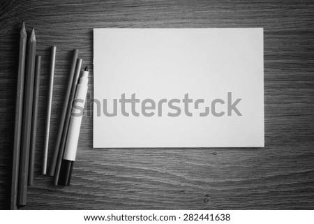 background for writing stationery - stock photo
