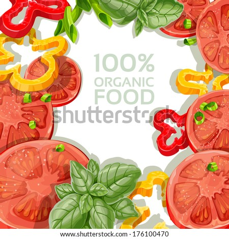 Background for your text with delicious and fresh vegetables - stock photo