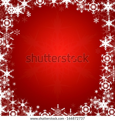 Background Framed With Snowflakes