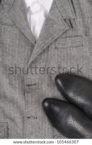 Background from a business suit and shoes