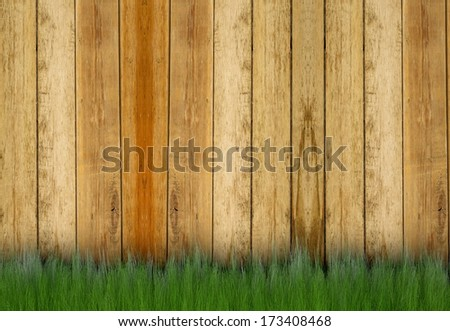Background from a fence and a grass