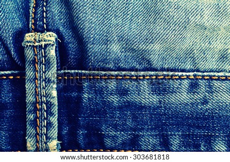 Background from a jeans fabric with a place for an inscription
