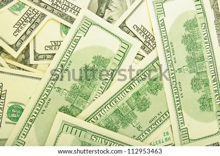Background from a lot of dollar banknotes