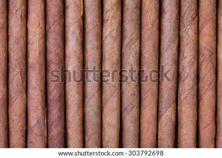 background from arrange of cigars - stock photo