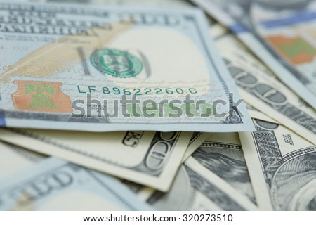 background from banknotes of dollars