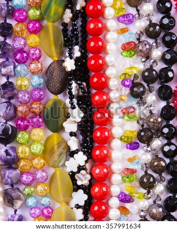 Background from beads - stock photo