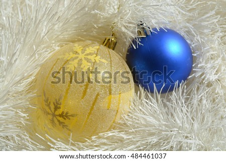Background from Christmas tree decoration, ball