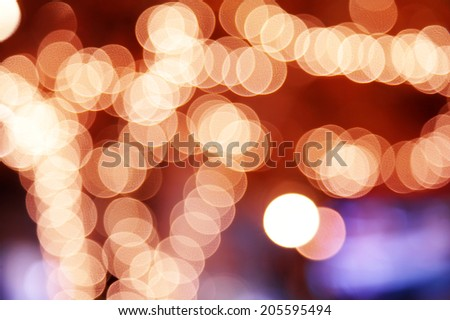 background from color circle bokeh from light