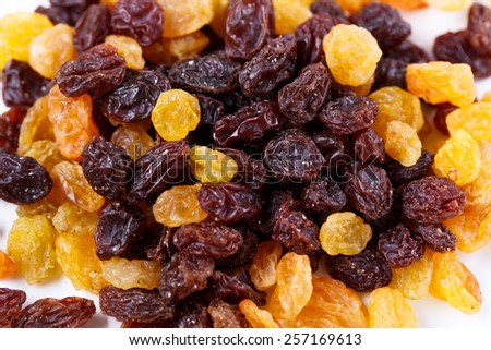Background from different mixed sultanas