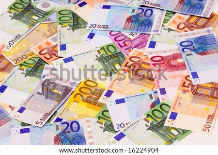 background from euro - stock photo