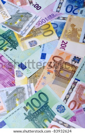 Background from euro. A set the European currency