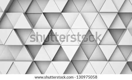 background from extruded triangles,  you can overlay your own image - stock photo
