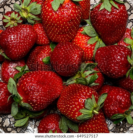 background from fresh ripe useful fruit strawberry closeup