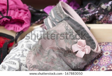 Background from lingerie - stock photo