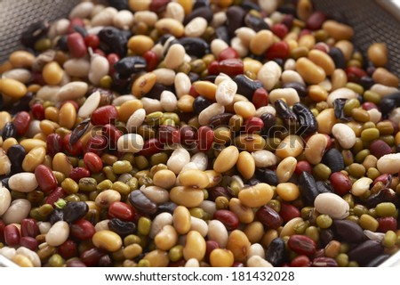 background from many beans - stock photo