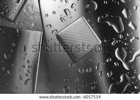 background from metal - stock photo